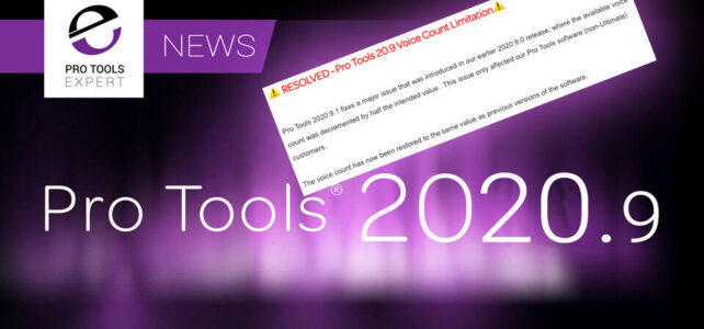 Pro Tools 2020.9.1 ora disponibile